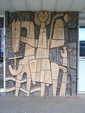 "Hugo Brouwer - ""Kin on horseback,"" Alkmaar, 1950s."