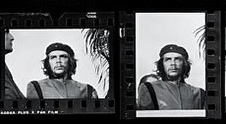 Guerrillero Heroico - The two photographs of Che from Korda's film.