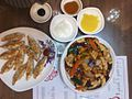 Korean Chinese dumplings and Korean Chinese sweet and sour pork.jpg