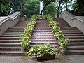 Kowloon Park waterfall stairs.JPG