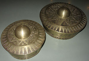 Kulintang - The different sized brass kulintang gongs.