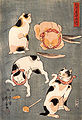 Kuniyoshi Utagawa, For cats in different poses.jpg