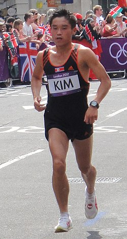 Kwang-Hyok Kim (North Korea) - London 2012 Mens Marathon (cropped).jpg