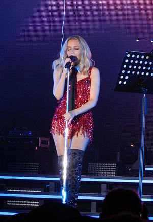 "Slow (Kylie Minogue song) - Minogue performing ""Slow"" on her 2015 Summer Tour."