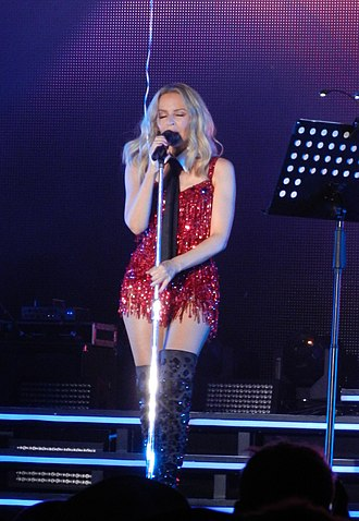 """Slow (Kylie Minogue song) - Minogue performing """"Slow"""" on her 2015 Summer Tour."""