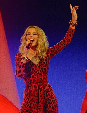 Kylie Minogue singles discography - Minogue performing in 2015