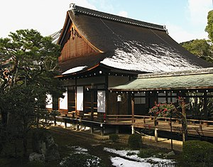 Daikaku-ji - The Shōshinden is a Momoyama period building with a replica of the chambers where retired Emperor Go-Uda conducted cloistered rule