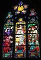 L'Épine (Marne), Basilika Notre-Dame, Bleiglasfenster, Papst Pius X.JPG