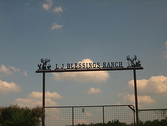 Freer, Texas - L.J. Blessings Ranch is one of several ranches near Freer off U.S. Highway 59 (Future Interstate 69W).