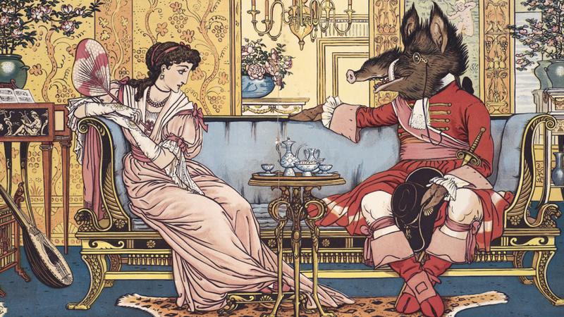 """Iz ilustrovane dečje knjige """"Lepotica i zver"""" Valtera Krejna, 1874. (commons.wikimedia)"""