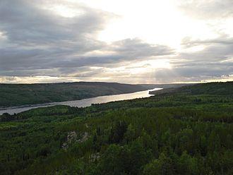 La Grande River - La Grande River near Radisson, Quebec.