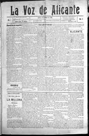 Manuel Senante Martinez - La Voz de Alicante