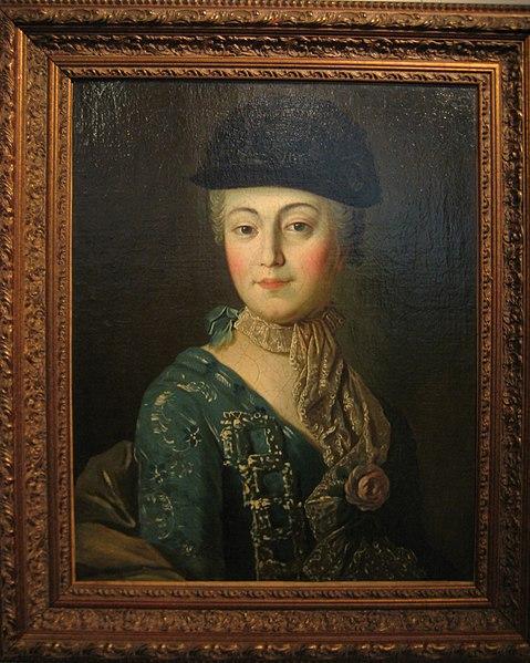 File:Lady in tricorne hat by unknown of Argunov school (Tropinin museum) frame.jpg