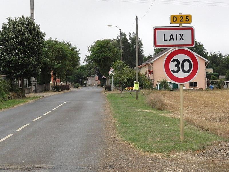 Laix (Meurthe-et-M.) city limit sign