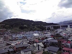 Okaya, Nagano - View of Okaya