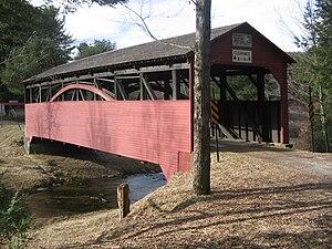 Cogan House Covered Bridge - Image: Larrys Creek Covered Bridge 2