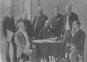 Half-Caste Act - Gov. Broome (seated centre) and the last Executive Council before responsible government in Western Australia, c.1890.