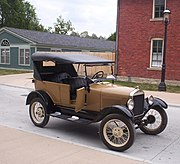 Ford Model T, 1927, regarded as the first affordable automobile