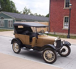 Successor to the Model T; Ford Model A used for giving tourist rides at Greenfield Village