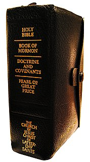Standard works Scriptural canon of the Church of Jesus Christ of Latter-day Saints