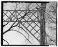 Lattice portal bracing, northwest corner - Sulphur Fork Creek Bridge, Spanning Sulfur Fork Creek on Spring Road, Port Royal, Montgomery County, TN HAER TN-27-12.tif