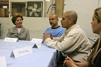 Homeboy Industries - Discussion with Laura Bush at Homeboy Industries headquarters