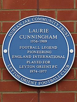 Laurie cunningham 1956 1989 football legend pioneering england international played for leyton orient fc 1974 1977
