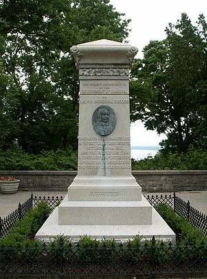 Sarah Anne Curzon - Laura Secord monument on Queenston Heights. Photo by Dickbauch.