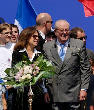 Jean-Marie Le Pen - Le Pen with his wife at a political rally in 2007