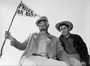 "The Great Adventure (U.S. TV series) - Lee Marvin and Walter Koenig in ""Six Wagons to Sea"", 1963."
