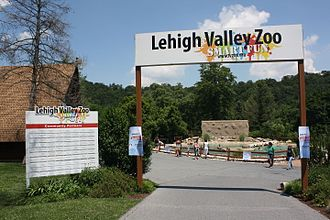 Lehigh Valley Zoo - Entrance to the Lehigh Valley Zoo. June 2013.