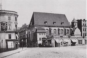 St. Peter, Leipzig - Image: Leipzig Alte Peterskirche 1880 Süd