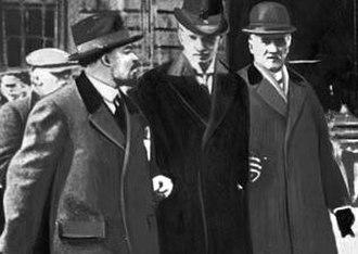 Ture Nerman - Lenin, Ture Nerman and Carl Lindhagen in Stockholm April 1917.