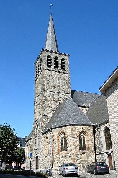 Lessines  (Belgium), the Saint Peter's church (XII/XXth centuries).