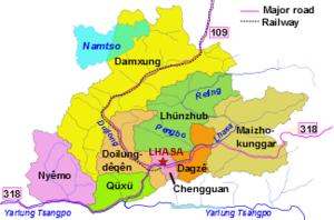 Lhasa prefecture counties & communications png.png
