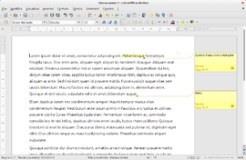 Screenshot di LibreOffice Writer