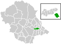 Location within Lienz district