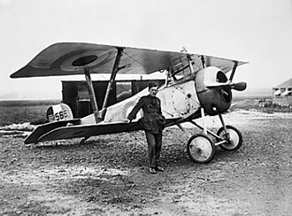 Billy Bishop - Bishop and a Nieuport 17 fighter in Filescamp, France