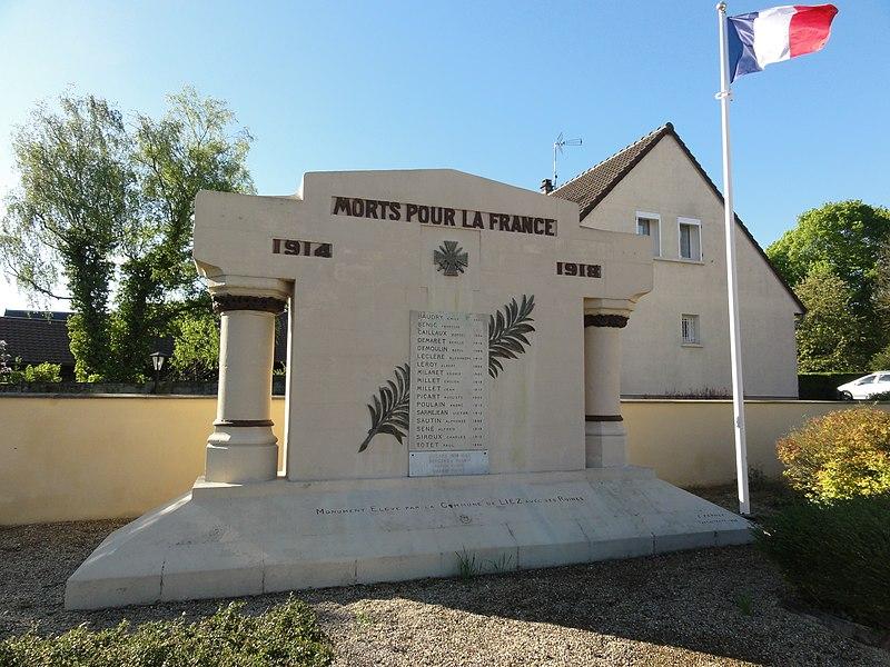 Liez (Aisne) monument aux morts