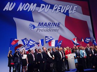 Marine Le Pen - Marine Le Pen during her presidential campaign, on 26 March 2017.
