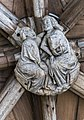 Lincoln Cathedral S. Cloisters, 30th boss from E (25509317037).jpg
