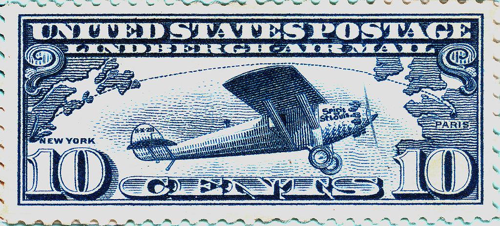 Lindbergh Airmail Stamp c10