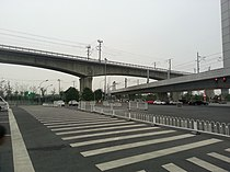 Line 14 crossed by Beijing Guangzhou HSR.jpg
