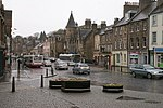 Linlithgow High Street On a wet Saturday afternoon.