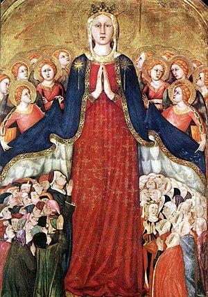 Lippo Memmi - Virgin of Mercy (Madonna dei Raccomandati), Orvieto Cathedral