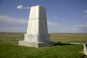 An obelisk commemorates the U.S. dead.