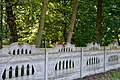 Liubeshiv Volynska-Liubeshivskyi park architecture monument-Red squirrel on fence.jpg