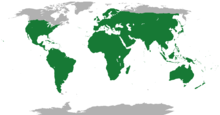 Range of the lizards, all species