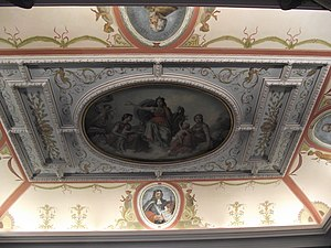 National Museum of Slovenia - The ceiling of the museum, with paintings by Janez and Jurij Šubic and the decoration by Karel Lipovšek