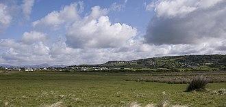 Llanfair, Gwynedd - Image: Llandanwg and Llanfair Gwynedd across Y Maes